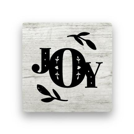 Joy 1 - Wood-Holiday-Paisley & Parsley-Coaster