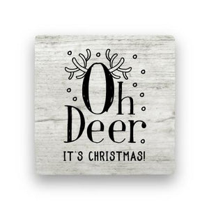 Oh Deer - Wood-Holiday-Paisley & Parsley-Coaster