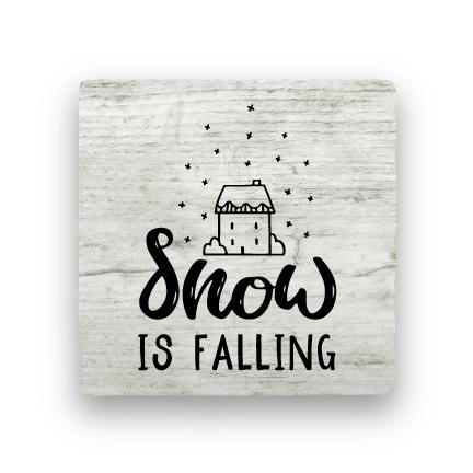 Snow Is Falling - Wood