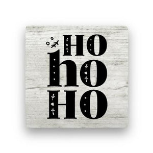 Ho Ho Ho - Wood-Holiday-Paisley & Parsley-Coaster