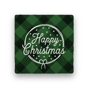 Happy Christmas - Green-Holiday-Paisley & Parsley-Coaster