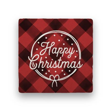 Happy Christmas - Red-Holiday-Paisley & Parsley-Coaster