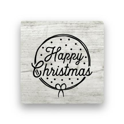 Happy Christmas - Wood-Holiday-Paisley & Parsley-Coaster