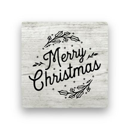 Merry Christmas - Wood-Holiday-Paisley & Parsley-Coaster