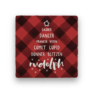 Reindeer - Red-Holiday-Paisley & Parsley-Coaster