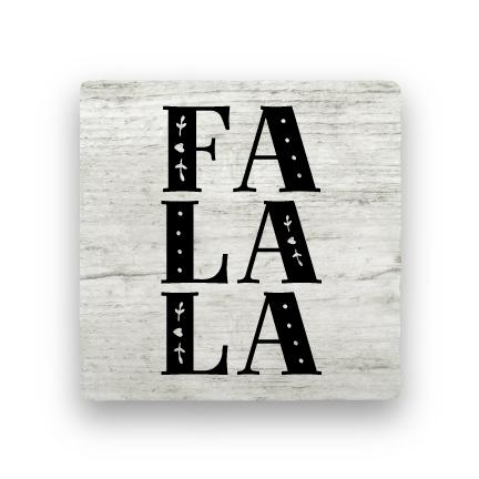 Fa La La - Wood-Holiday-Paisley & Parsley-Coaster