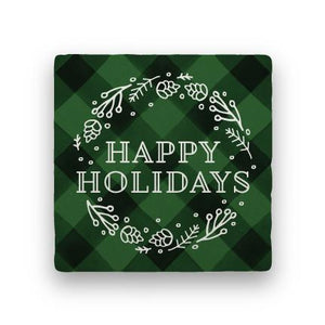 Happy Holidays - Green-Holiday-Paisley & Parsley-Coaster