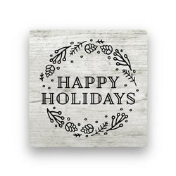 Happy Holidays - Wood