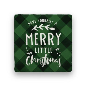 Merry Little Christmas - Green-Holiday-Paisley & Parsley-Coaster