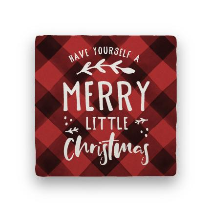 Merry Little Christmas - Red-Holiday-Paisley & Parsley-Coaster