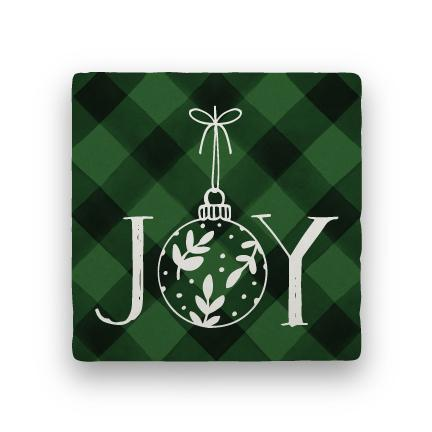 Joy 2 - Green-Holiday-Paisley & Parsley-Coaster