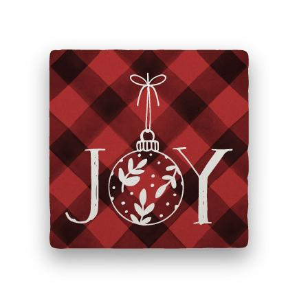 Joy 2 - Red-Holiday-Paisley & Parsley-Coaster