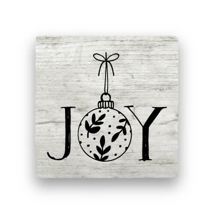 Joy 2 - Wood-Holiday-Paisley & Parsley-Coaster