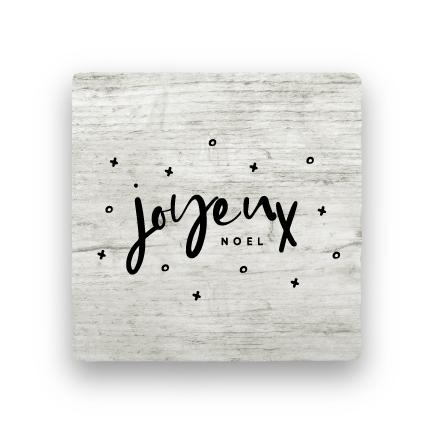 Joyeux Noel - Wood-Holiday-Paisley & Parsley-Coaster