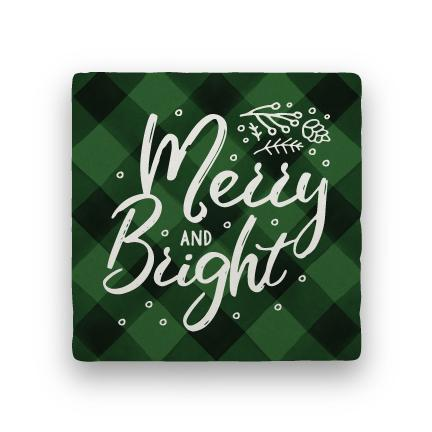 Merry and Bright - Green-Holiday-Paisley & Parsley-Coaster