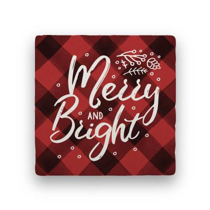 Merry and Bright - Red-Holiday-Paisley & Parsley-Coaster