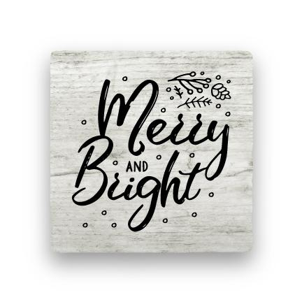 Merry and Bright - Wood-Holiday-Paisley & Parsley-Coaster