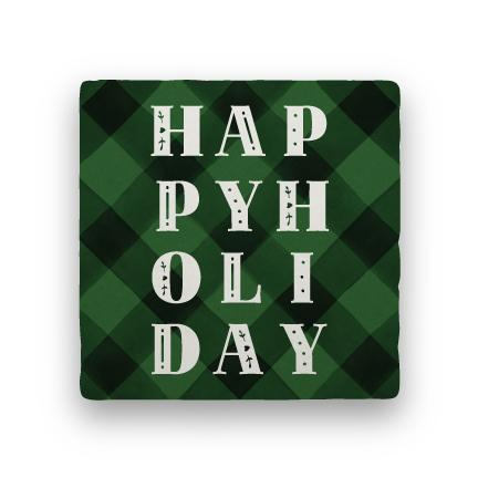 Happy Holiday - Green-Holiday-Paisley & Parsley-Coaster