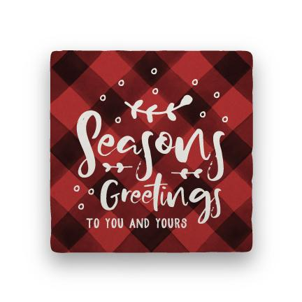 Seasons Greetings - Red-Holiday-Paisley & Parsley-Coaster
