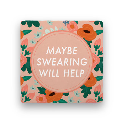 Swearing-Garden Party-Paisley & Parsley-Coaster