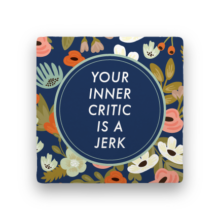 Inner Critic-Garden Party-Paisley & Parsley-Coaster