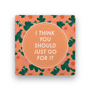 Just Go for It-Garden Party-Paisley & Parsley-Coaster