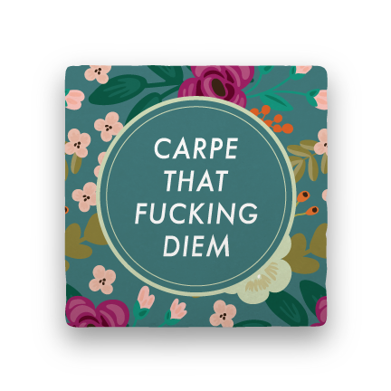 Carpe Diem-Garden Party-Paisley & Parsley-Coaster