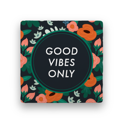 Good Vibes Only-Garden Party-Paisley & Parsley-Coaster