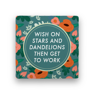 Stars and Dandelions-Garden Party-Paisley & Parsley-Coaster