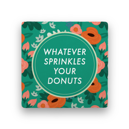 Donuts-Garden Party-Paisley & Parsley-Coaster