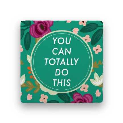 You Can Do This-Garden Party-Paisley & Parsley-Coaster