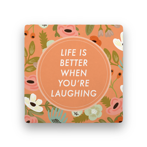 When You're Laughing-Garden Party-Paisley & Parsley-Coaster