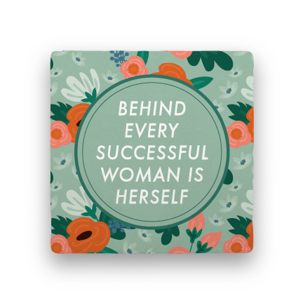 Behind Every Woman-Garden Party-Paisley & Parsley-Coaster