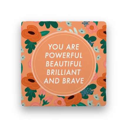 Brilliant and Brave-Garden Party-Paisley & Parsley-Coaster
