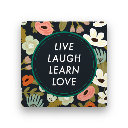 Live Laugh Learn Love-Garden Party-Paisley & Parsley-Coaster