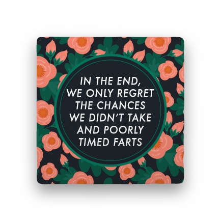 Regret-Garden Party-Paisley & Parsley-Coaster