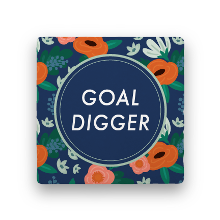 Goal Digger-Garden Party-Paisley & Parsley-Coaster