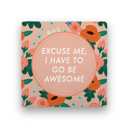 Excuse Me-Garden Party-Paisley & Parsley-Coaster