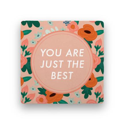 Just the Best-Garden Party-Paisley & Parsley-Coaster