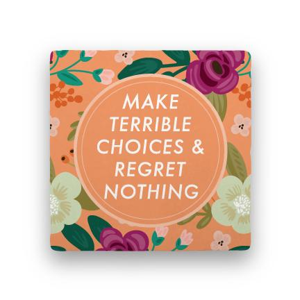Regret Nothing-Garden Party-Paisley & Parsley-Coaster