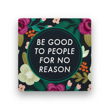 Be Good-Garden Party-Paisley & Parsley-Coaster