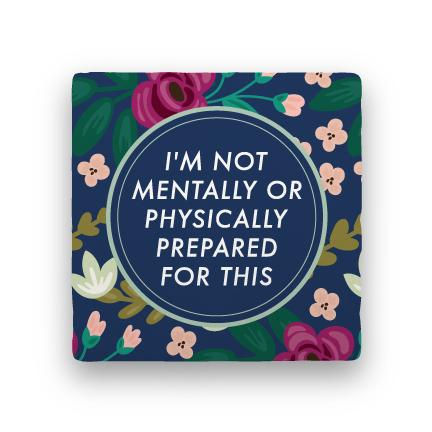 Not Prepared-Garden Party-Paisley & Parsley-Coaster