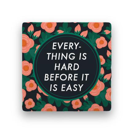 Hard Before Easy-Garden Party-Paisley & Parsley-Coaster