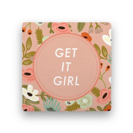 Get It Girl-Garden Party-Paisley & Parsley-Coaster