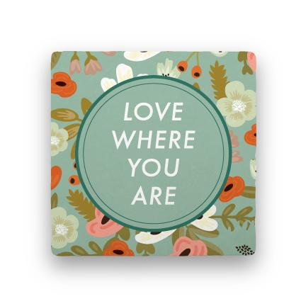 Where You Are-Garden Party-Paisley & Parsley-Coaster