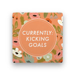 Kicking Goals-Garden Party-Paisley & Parsley-Coaster
