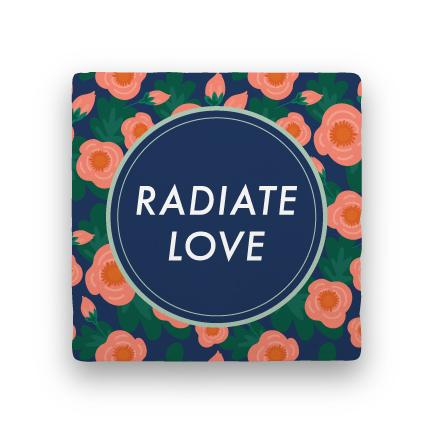 Radiate Love-Garden Party-Paisley & Parsley-Coaster