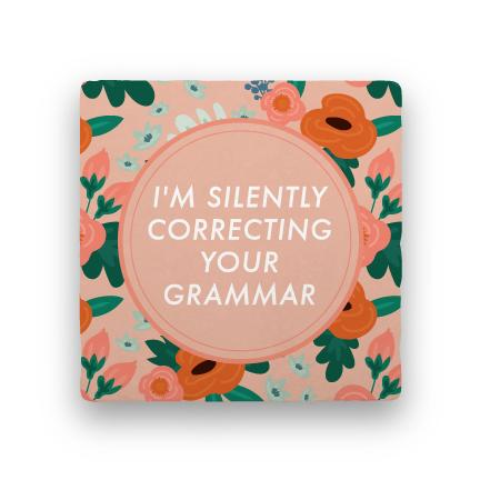 Your Grammar-Garden Party-Paisley & Parsley-Coaster