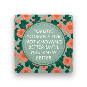 Forgive Yourself-Garden Party-Paisley & Parsley-Coaster