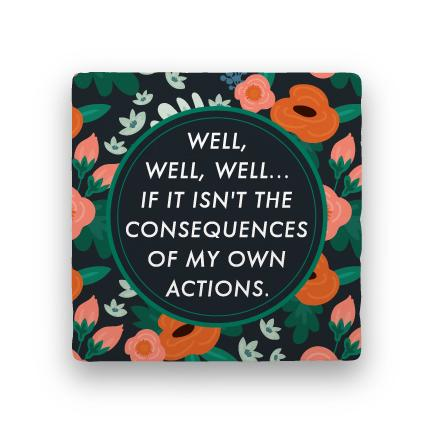Consequences-Garden Party-Paisley & Parsley-Coaster